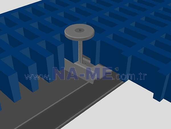 M Tipi Metal Bağlantı Elemanı Kompozit CTP Izgaralar