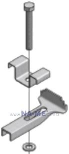 M Tipi Metal Bağlantı Elemanı Kompozit Izgaralar