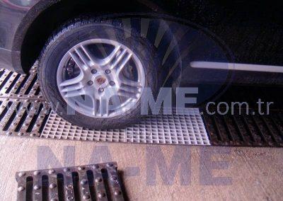 Polyester Izgara Araç Yıkama Alanı Uygulaması